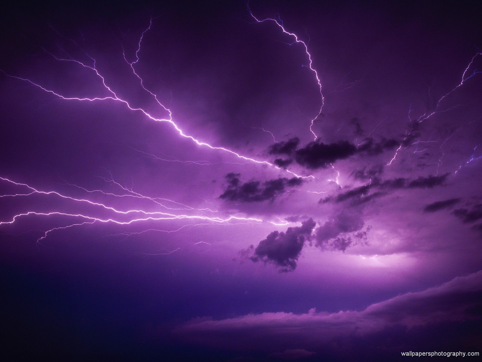 Thunder and lighting Wallpaper Print Posters 1600x1200