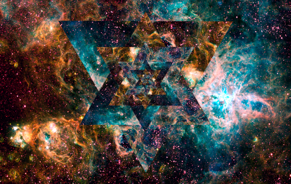 Psychedelic triangles in cosmos wallpapers   4K Ultra HD Wallpapers 600x380