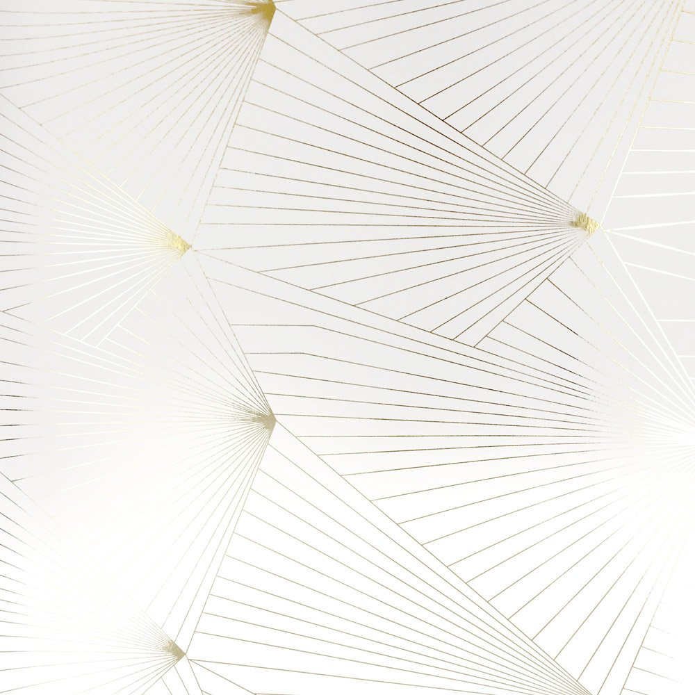 Gold and white wallpaper Fan white gold wallpaper Erica Wakerly 1000x1000