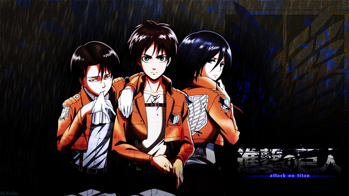 No kyojin eren jaeger wallpaper by deathb00k customization wallpaper - Shingeki No Kyojin Wallpaper Rivaille Eren Mikasa By Arehina On