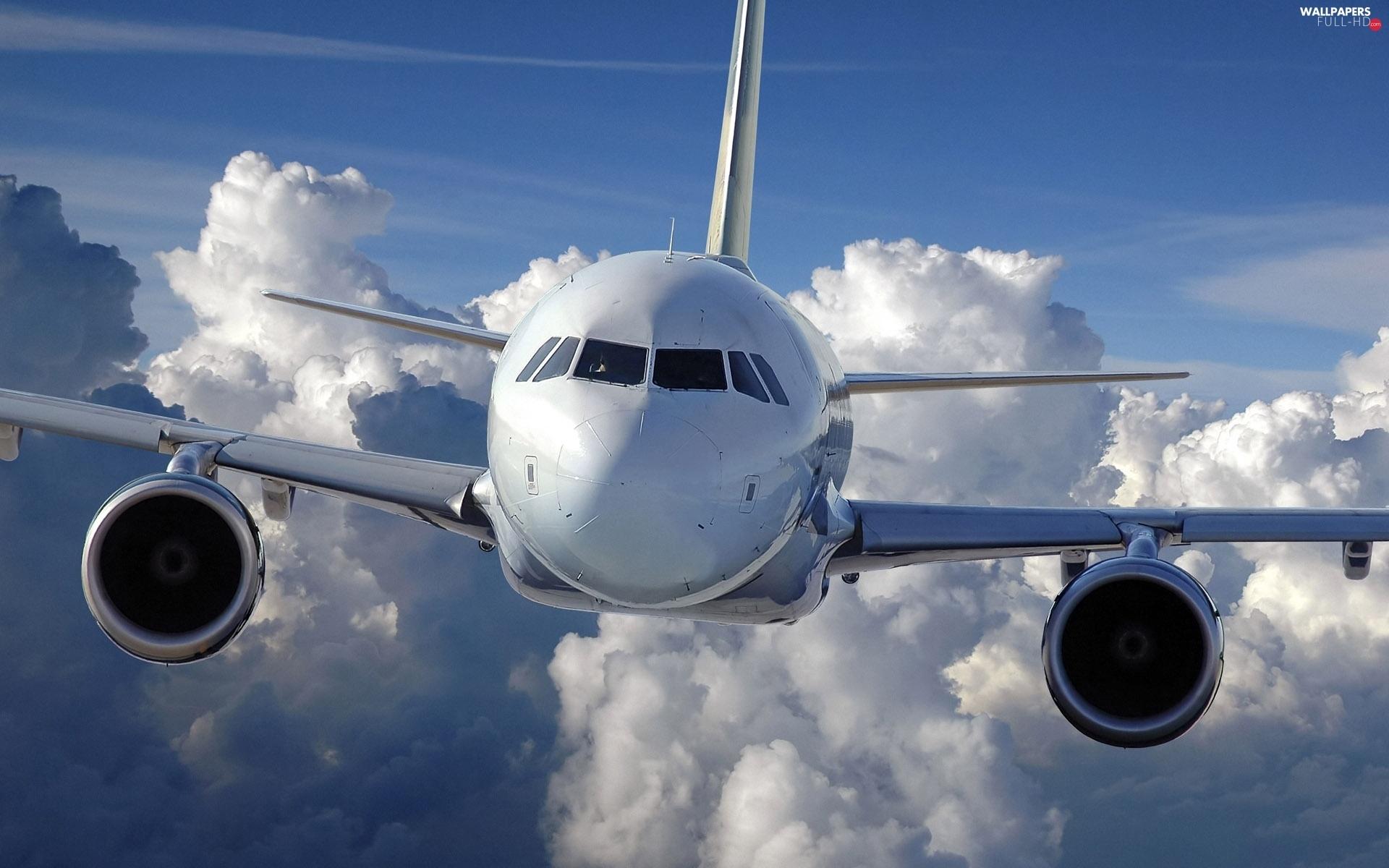 Sky clouds plane passenger   Full HD Wallpapers 1920x1200 1920x1200