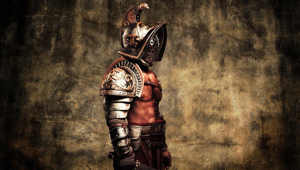 style warrior flesh gladius helmet gladiator armor wallpaper 970x550