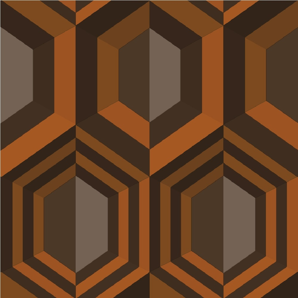 Muriva Hexagon Geometric Wallpaper J40705   Orange I Want Wallpaper 1000x1000
