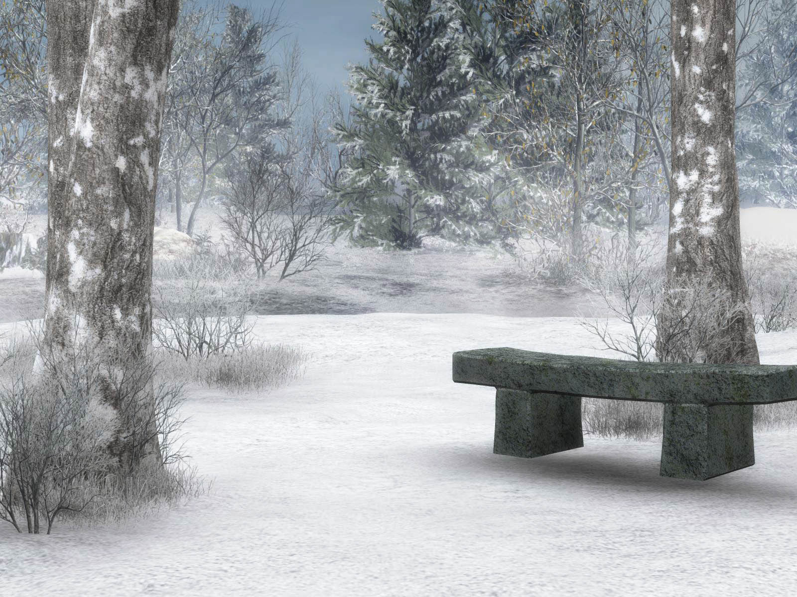 Winter Scene Screensavers wallpaper wallpaper hd background 1600x1200
