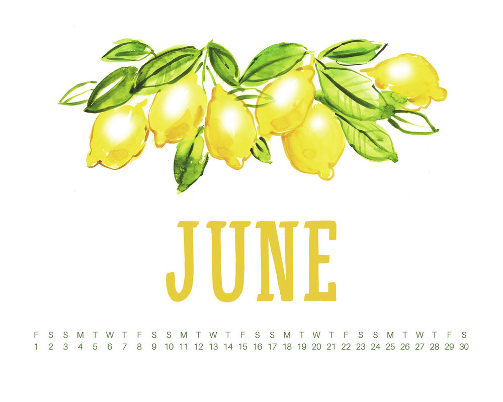 June 2018 Desktop Calendar Wallpaper UpperCase Designs 1000x800