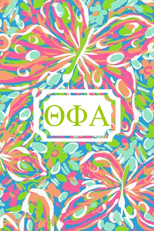 Theta phi alpha Lilly monogram iPhone background made with Monogram 640x960