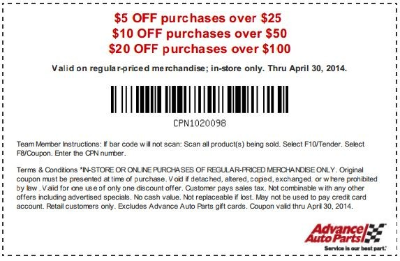 Advance auto coupon codes 40 off