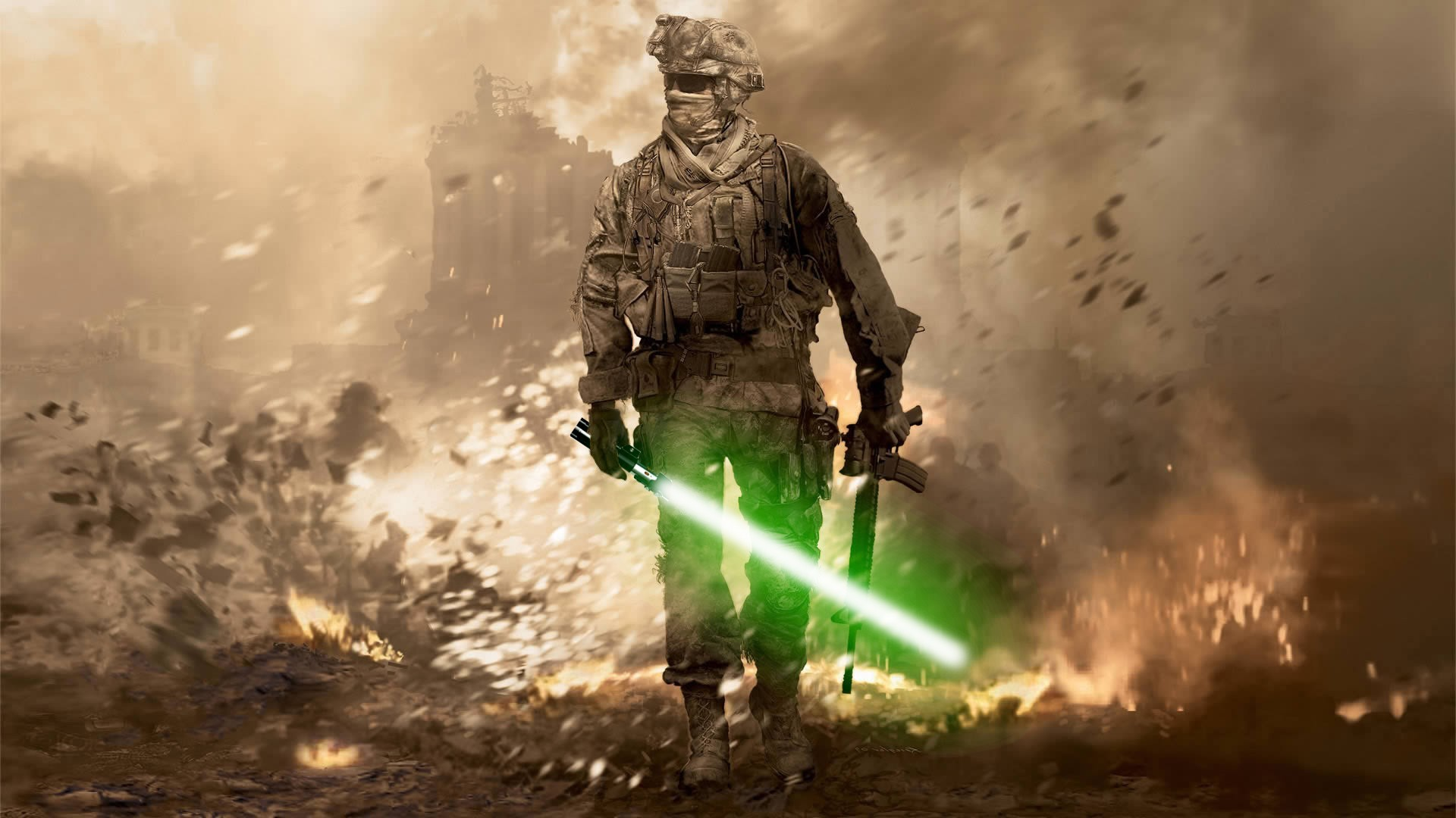 Free Download Call Of Duty Star Wars Crossover Funny Hd Wallpaper