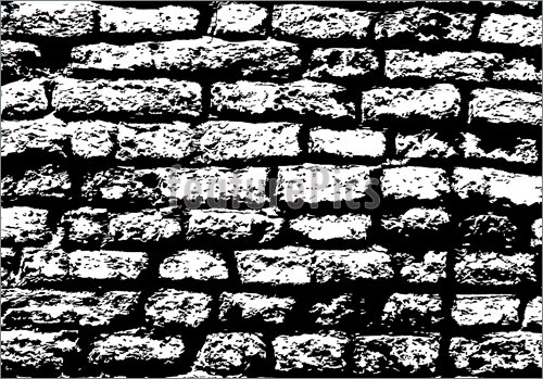Grunge white and black brick wall background 500x349