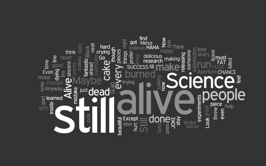 Still Alive Wallpaper by jleesteven 900x563