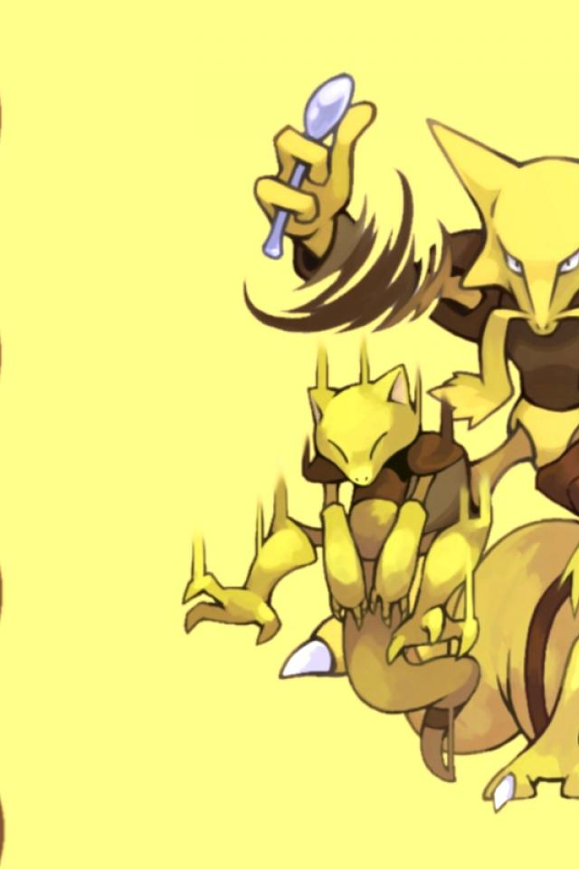 ScreenHeaven Abra Alakazam Kadabra Pokemon desktop and 640x960