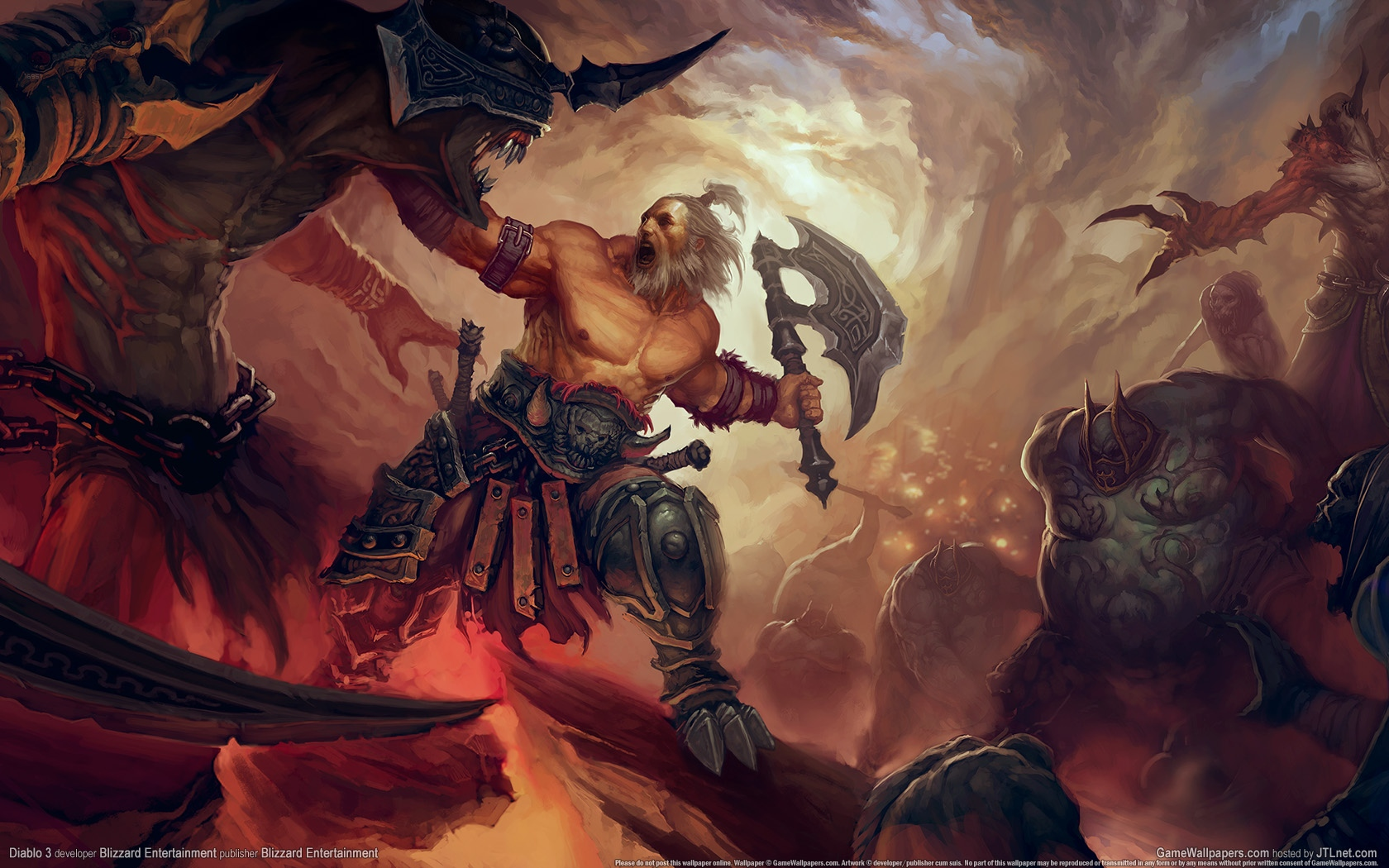 Download Barbarian Diablo Wallpaper 1680x1050 Wallpoper 1680x1050