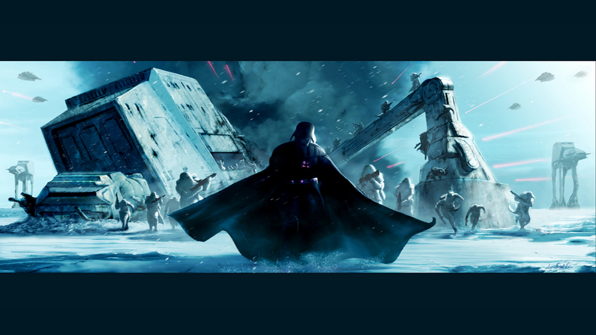 Star Wars Wallpapers Darth Vader Hoth star wars 25114659 1024 768 1920x1080