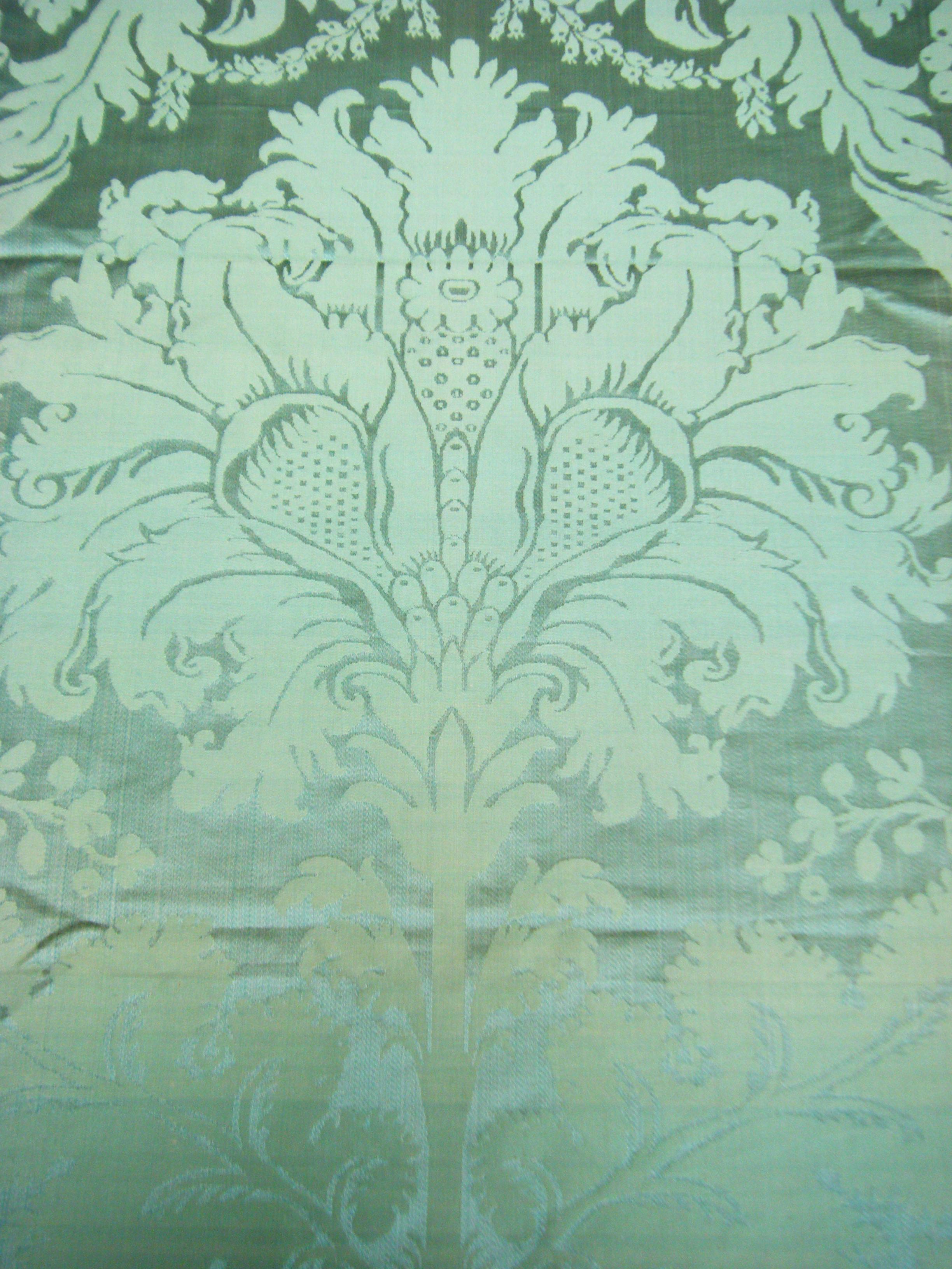 Jasper green damask silk hamot archives french antique textiles 2448x3264