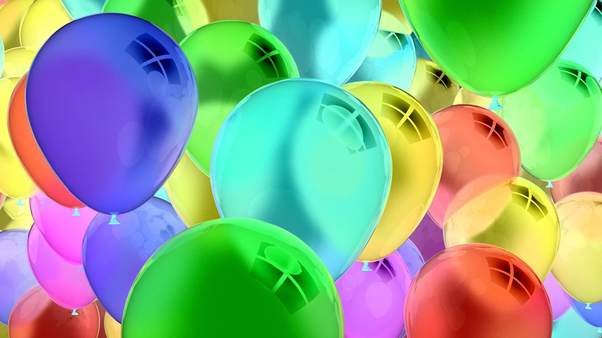 Birthday Balloons Colorful Wallpapers for Daily Backgrounds 1920x1080