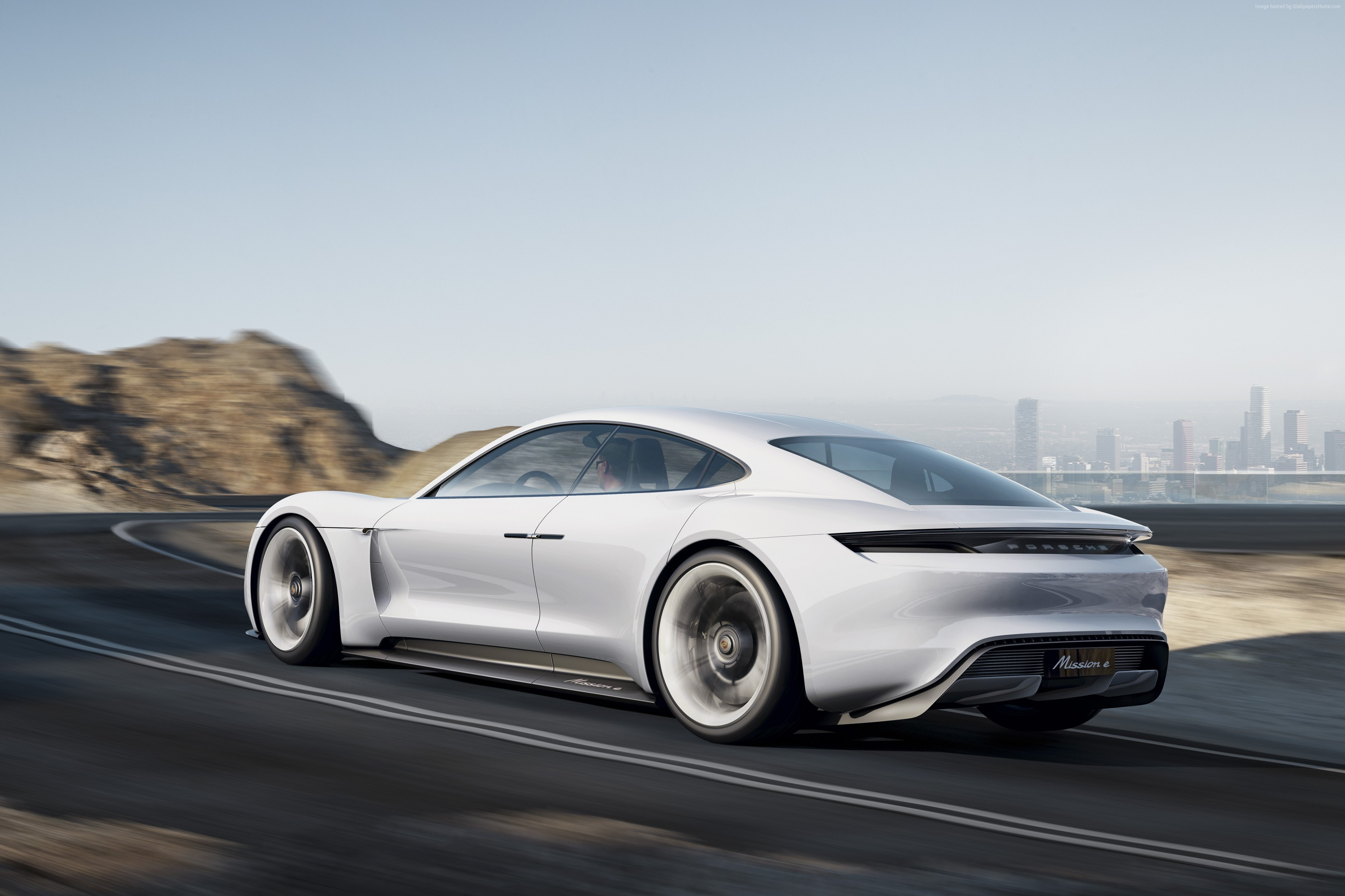 100901 800v white Porsche Taycan supercar Electric Cars 3600x2400