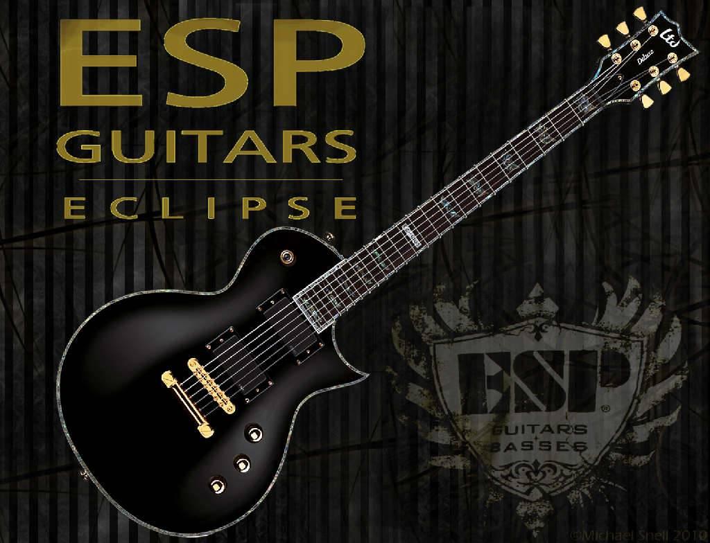 Free Download Esp Guitars Eclipse Guitar Wallpaper 1024x784