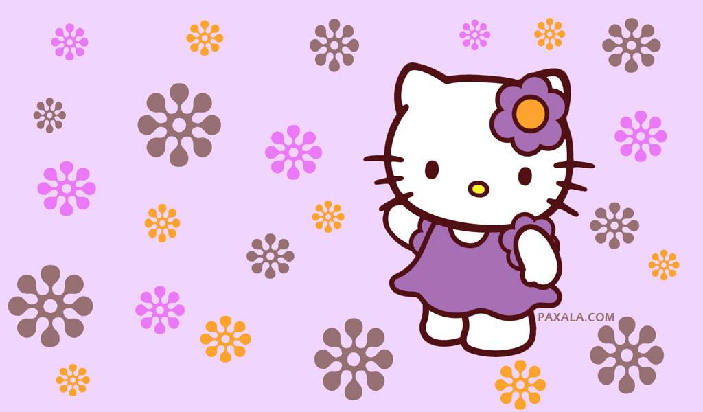 Purple Hello Kitty Wallpaper