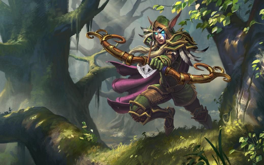 Hearthstone Alleria Windrunner Night Elf Ranger Archer 1040x650
