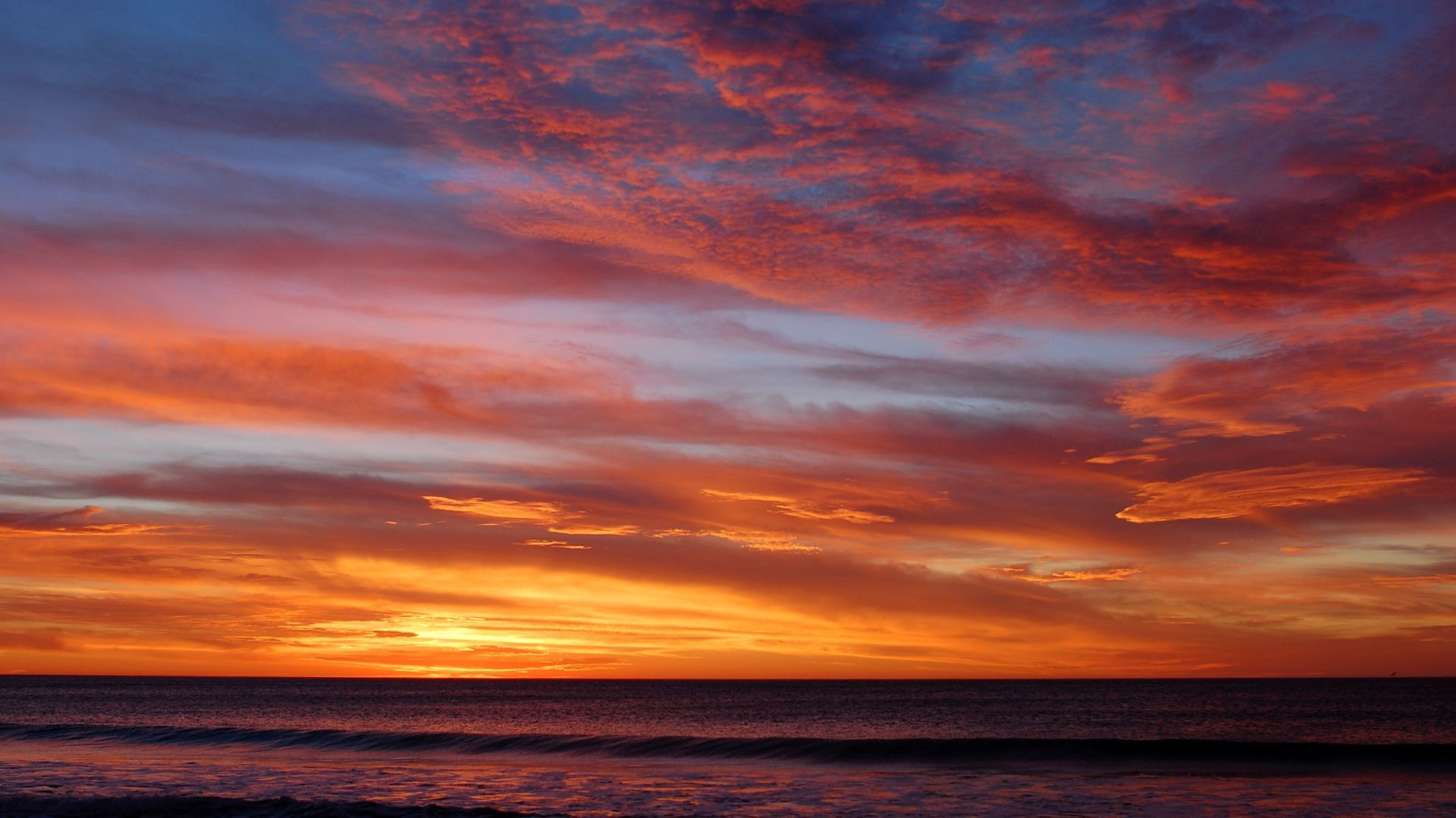 Ocean Sunset Wallpaper 35974 1920x1080 px HDWallSourcecom 1920x1080
