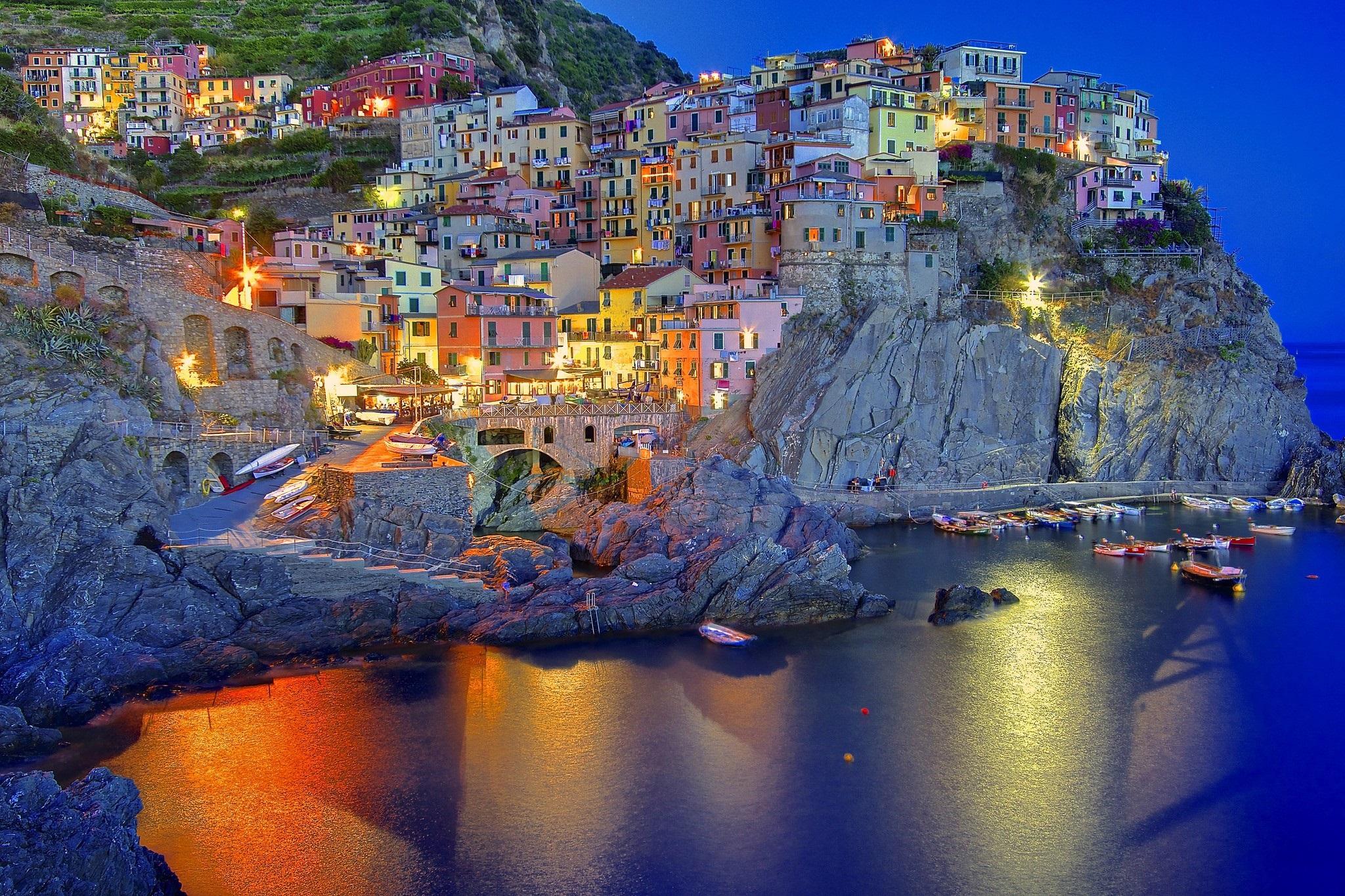Amalfi Coast In Liguria Italy Desktop Background 2048x1365