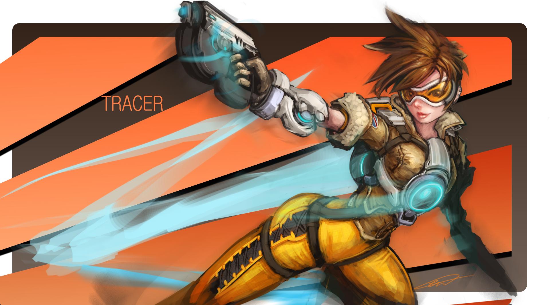 Overwatch Tracer Wallpaper - WallpaperSafari