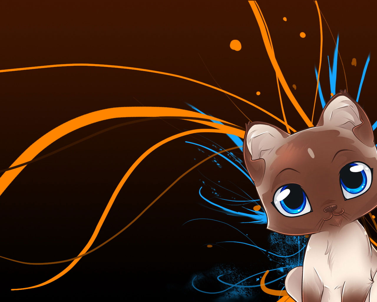 46 cute cartoon cat wallpaper on wallpapersafari - Moving animal wallpapers ...