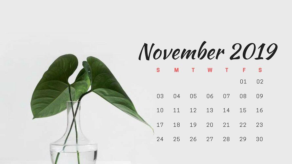 November 2019 Calendar Wallpaper calendar november Calendar 1024x576