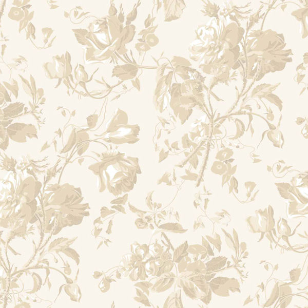 Cream and Beige Floral Trail Toile Wallpaper   Wall Sticker Outlet 600x600