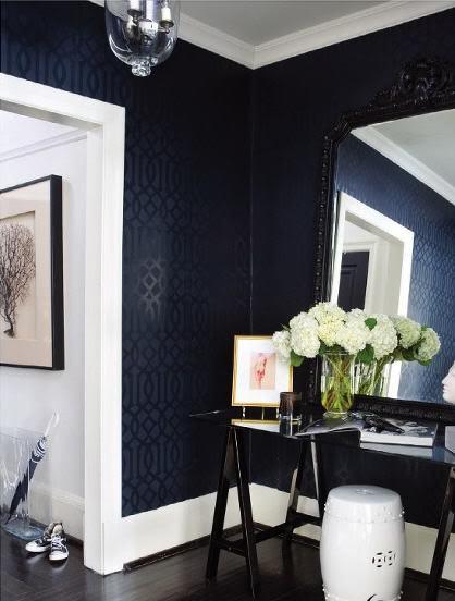 Wallpaper for Foyer   Contemporary   entrancefoyer   Ferreira Design 418x552