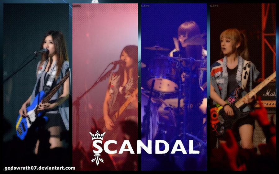 Scandal Japanese Band Wallpaper by godswrath07 900x563