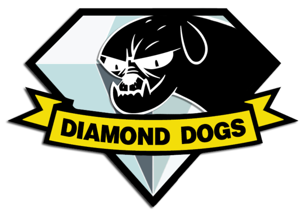 Diamond Dogs badge My Little Pony x Metal Gear by sequity on 600x414