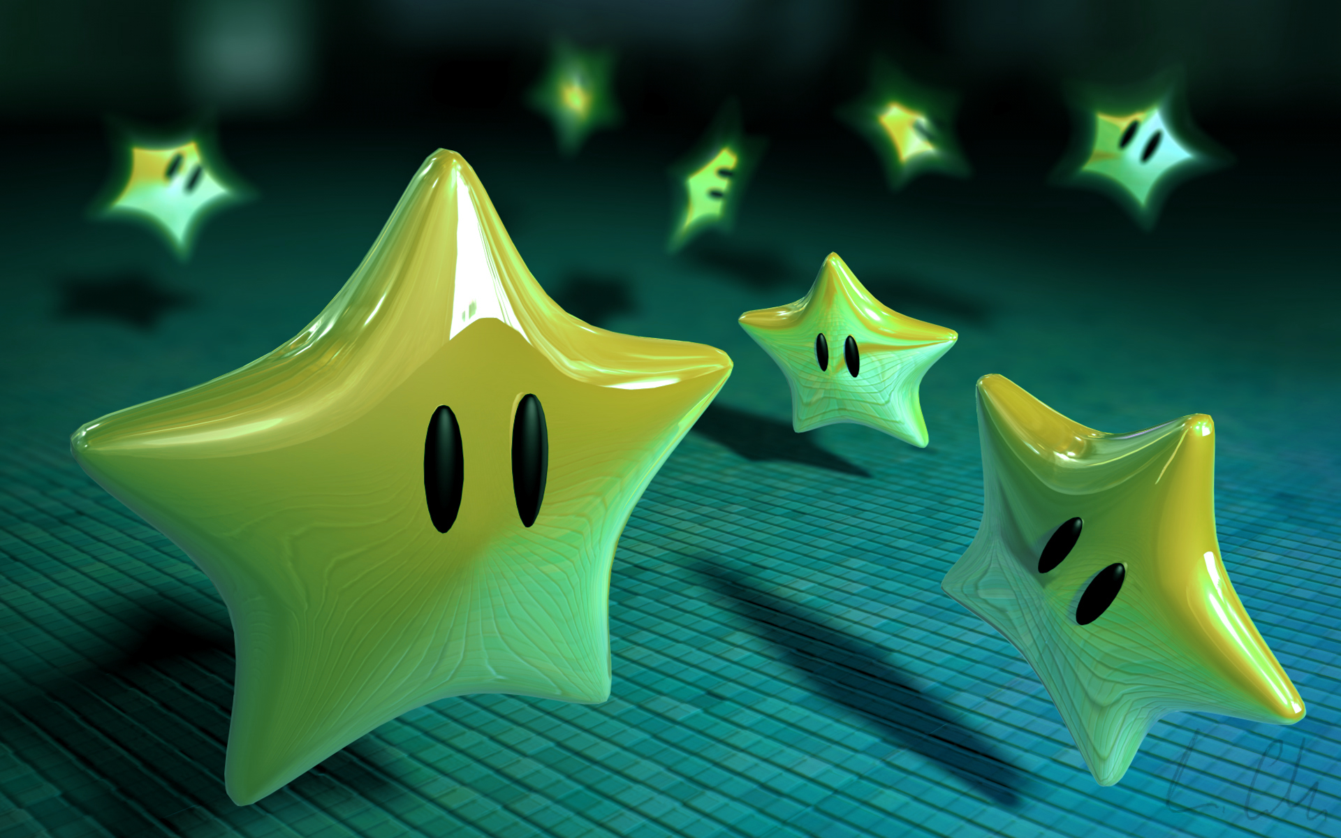3D Mario Stars Google Wallpapers 3D