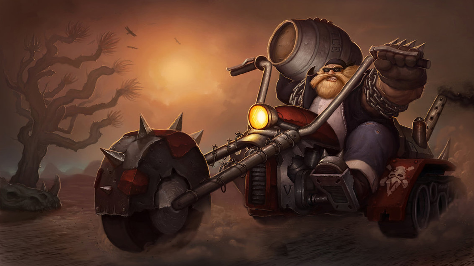 Biker Gragas Fanart Wallpaper   LeagueSplash 1920x1080