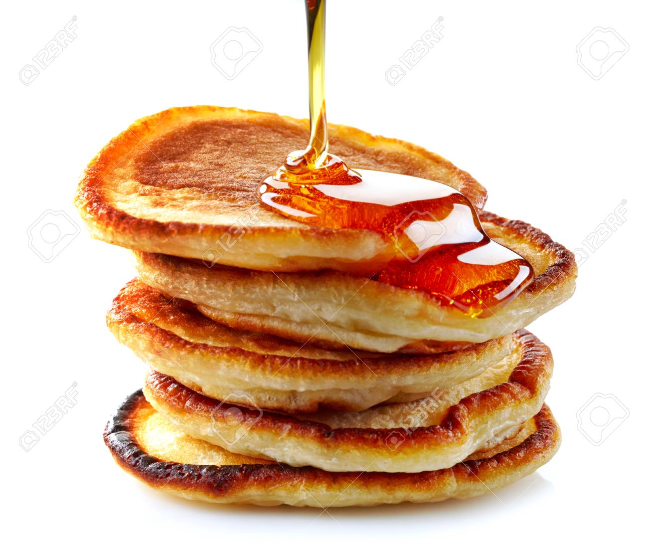 Stack Of Pancakes On White Background Stock Photo Picture And 1300x1117