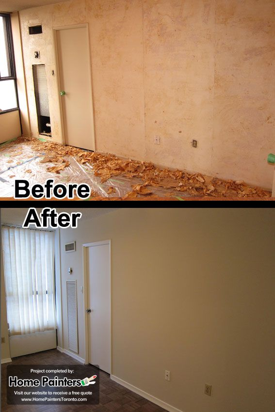 Removing wallpapers from an apartment in midtown Toronto and Painting 567x850