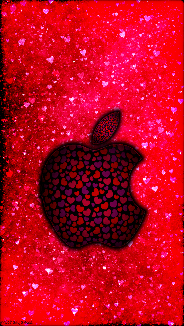 Grungy Valentines Apple 640 x 1136 Wallpapers available for 640x1136