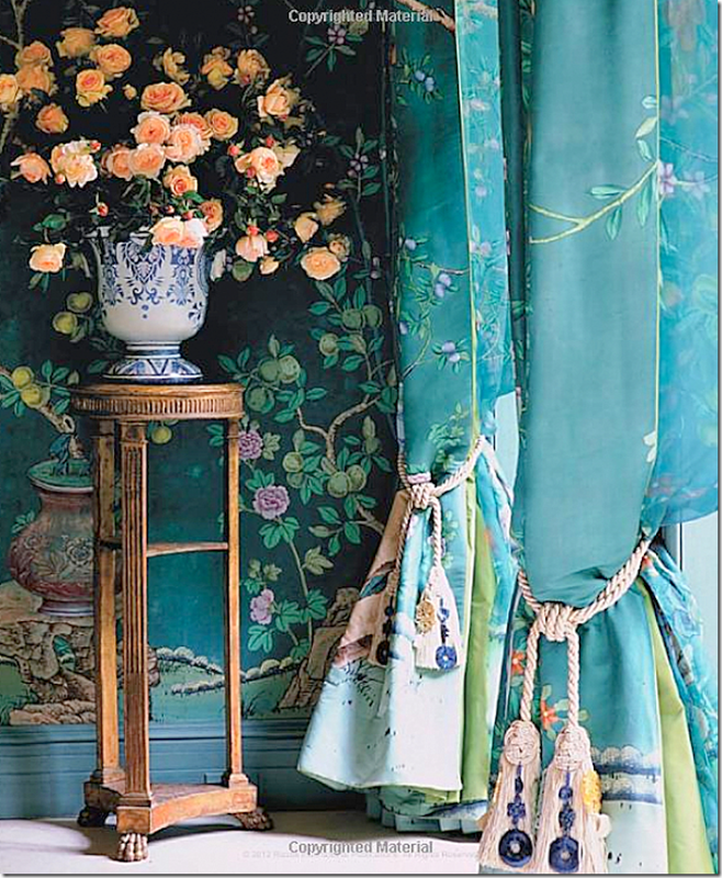 Doyle will be auctioning four panels of these De Gournay curtains 658x800