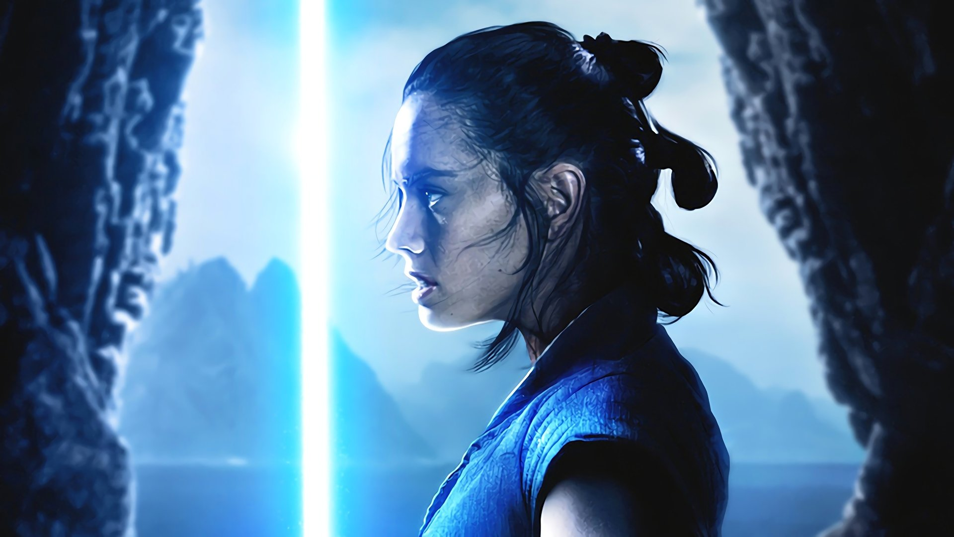Free Download Rey Lightsaber Full Hd Wallpaper And Background Image 1920x1080 For Your Desktop Mobile Tablet Explore 80 Star Wars Rey Wallpapers Star Wars Rey Wallpaper Star Wars Rey