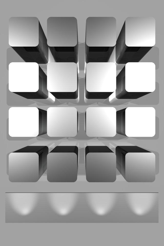 3D Shelf iPhone Wallpaper HD 640x960