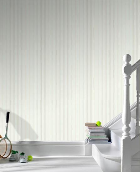 com17267 Wall Doctor Beadboard White PlainTexture Wallpaper 447x550