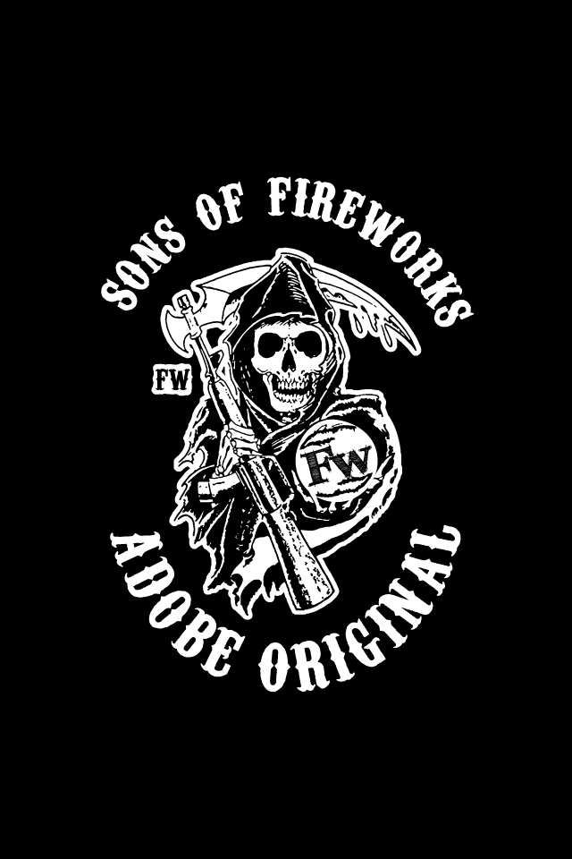 sons of anarchy logo wallpaper wallpapersafari