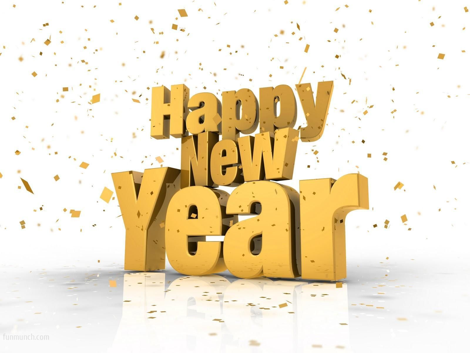 New Year 2015 gold wallpaper 1600x1200