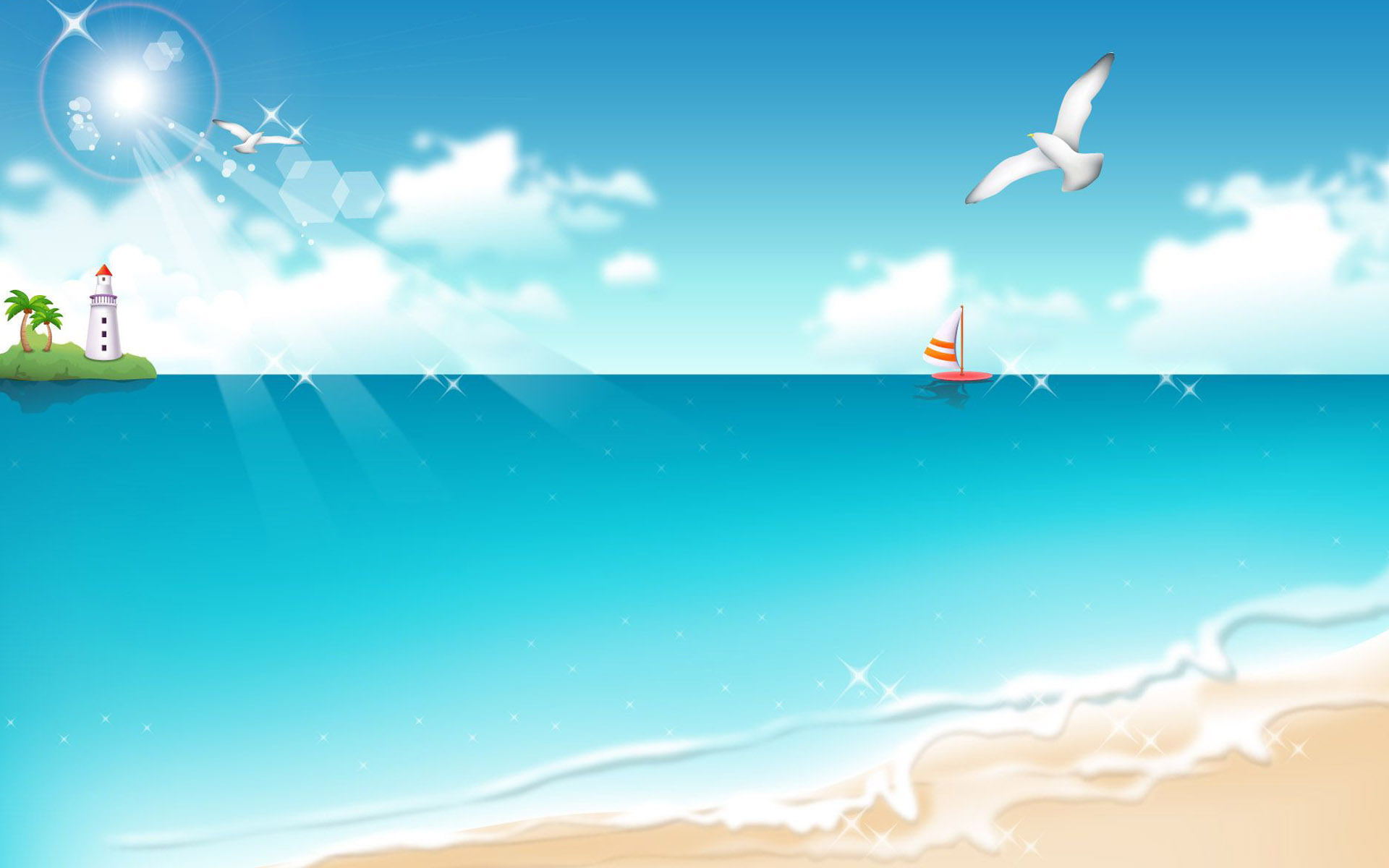 Cartoon Beach Wallpaper: [77+] Cartoon Background On WallpaperSafari