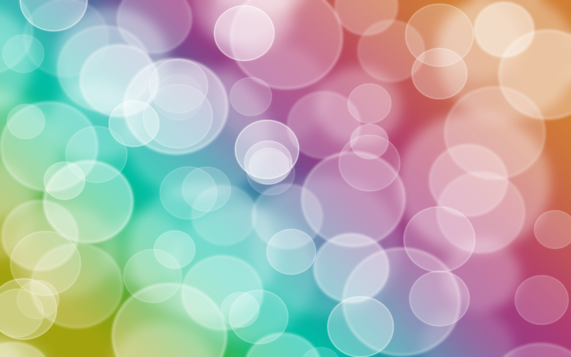 colorful bubbles desktop wallpaper