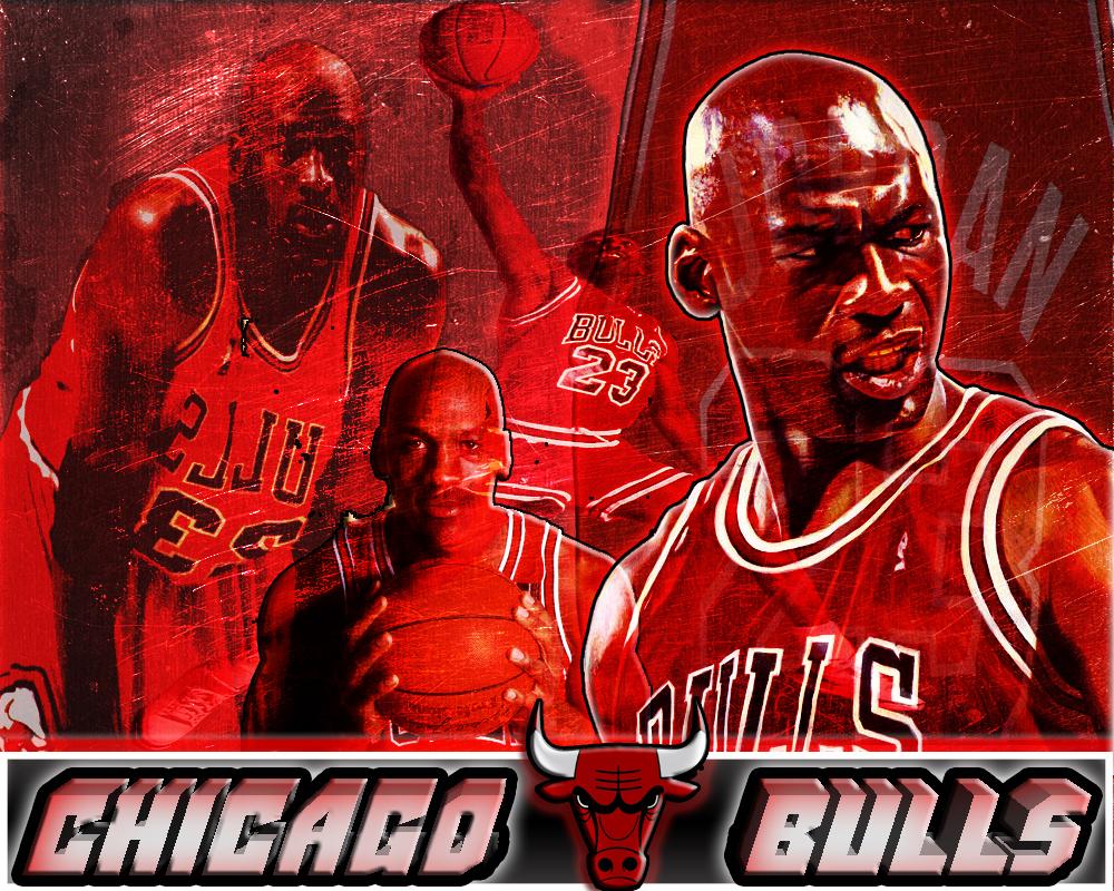 Wallpaper Chicago Bulls Michael Jordan by BriloStudios 1000x800
