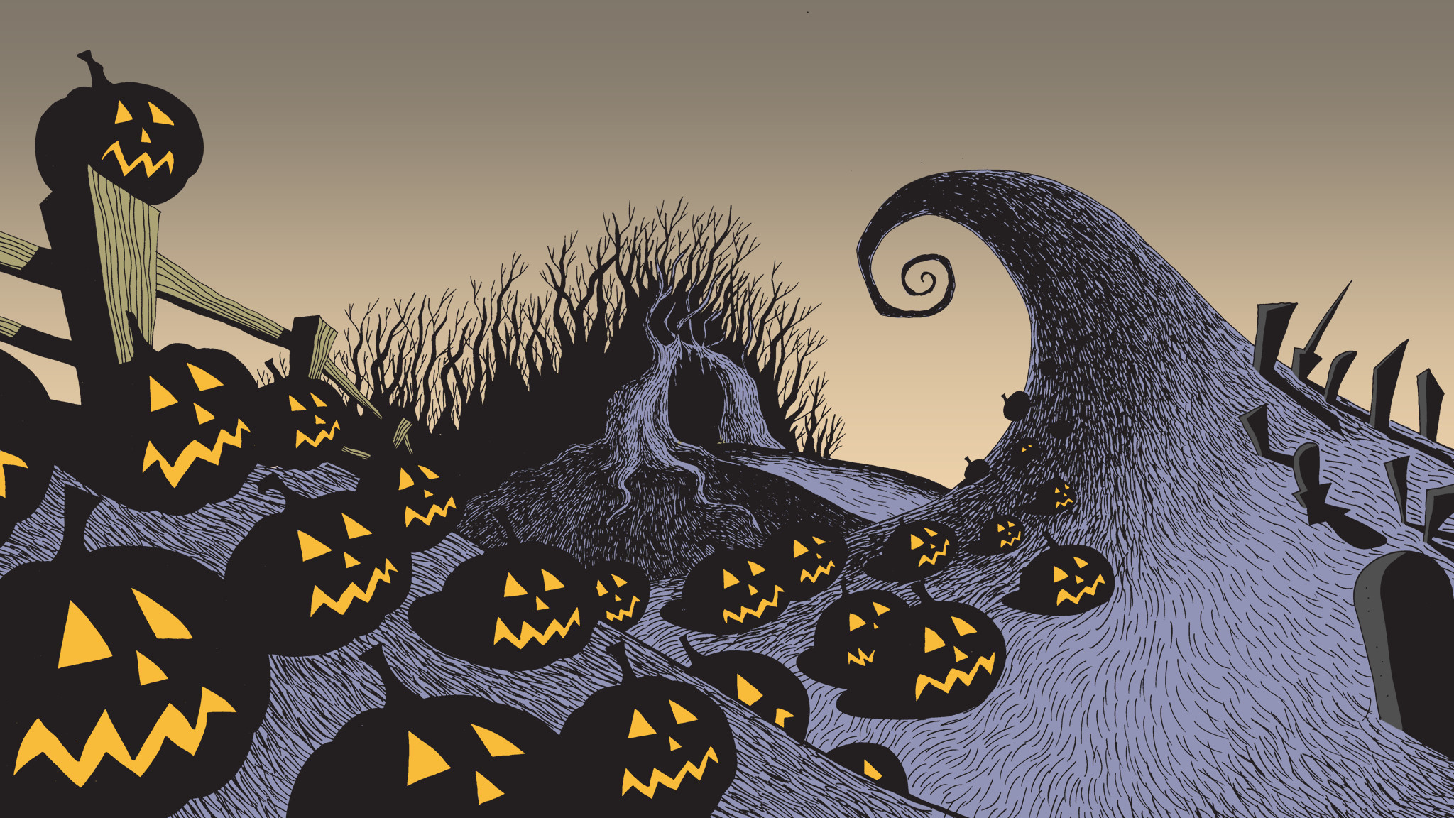 Nightmare Before Christmas Backgrounds 61 pictures 2048x1152