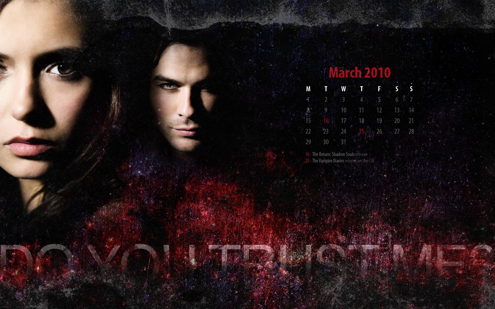 Damon and Elena Wallpaper   The Vampire Diaries TV Show 1680x1050