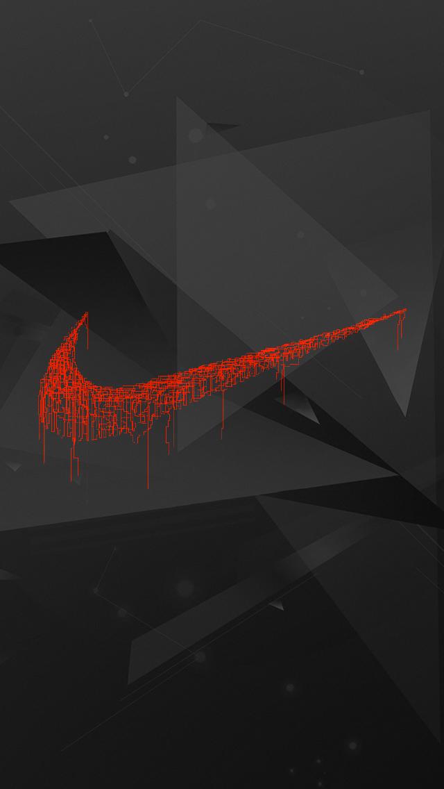 Darkened Nike iPhone 5 Wallpaper 640x1136 640x1136