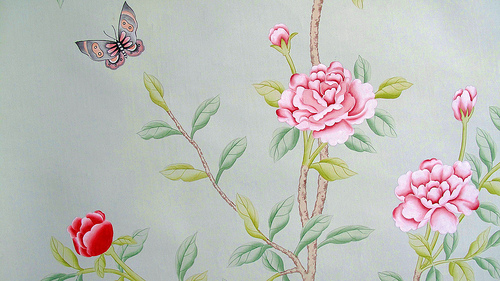 and Wong hand painted chinese silk wallpaper Flickr   Photo Sharing 500x281